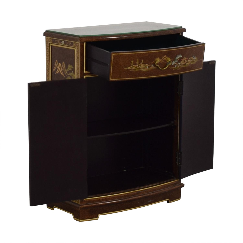buy Chinese Glass Top Storage Dresser  Storage