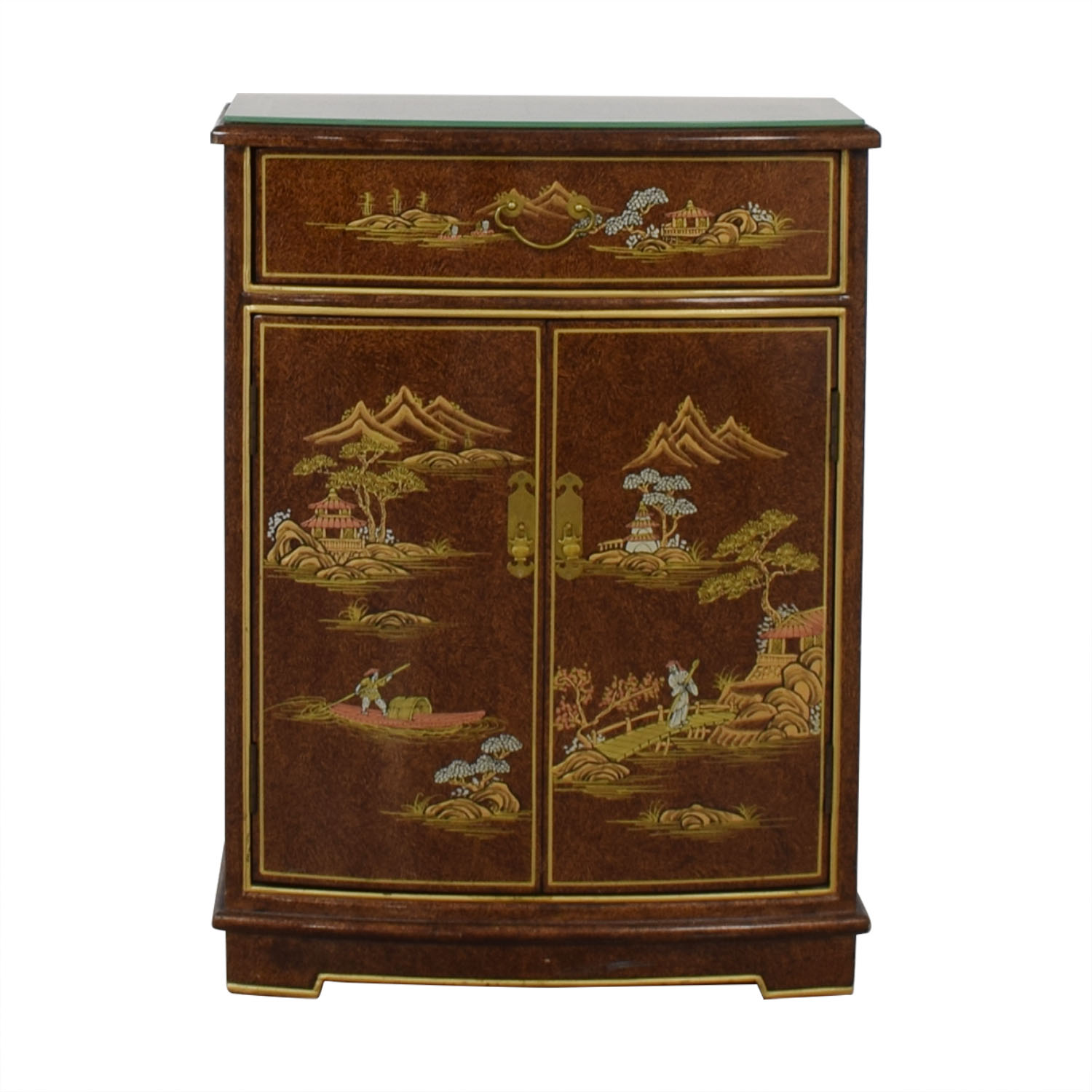shop Chinese Glass Top Storage Dresser