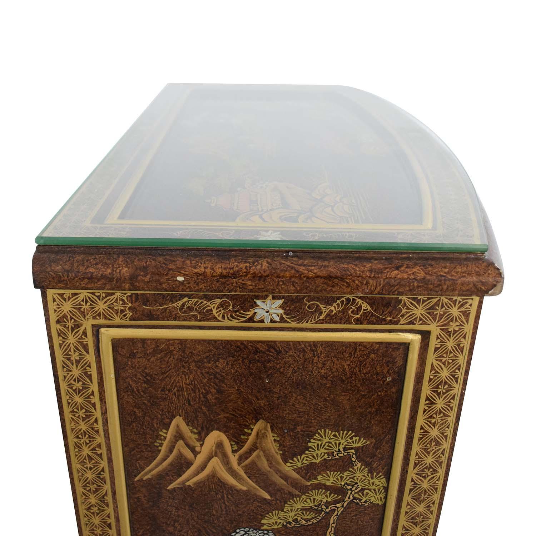 Chinese Glass Top Storage Dresser nj