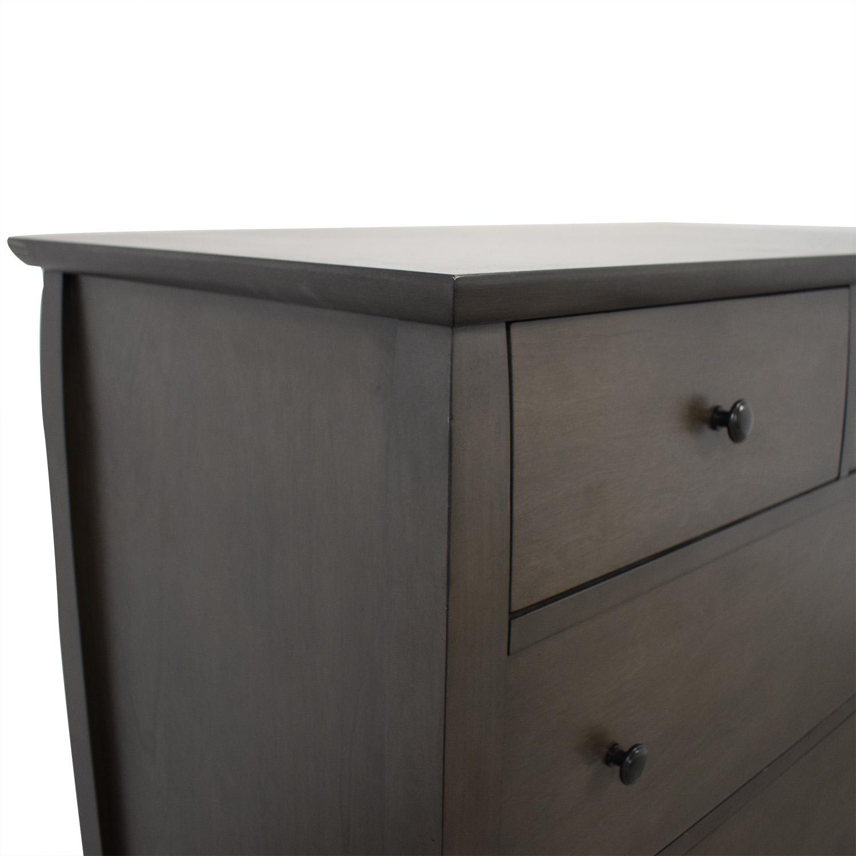 Crate & Barrel Crate & Barrel Mason Shadow 5-Drawer Grey Chest nyc