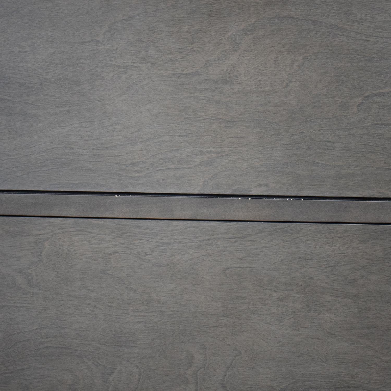shop Crate & Barrel Mason Shadow 5-Drawer Grey Chest Crate & Barrel Dressers