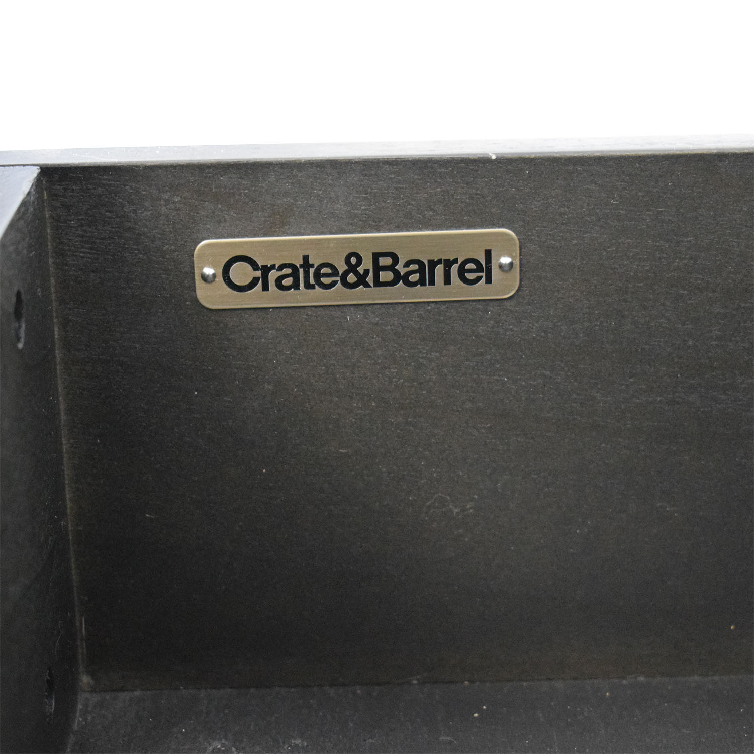Crate & Barrel Crate & Barrel Mason Shadow 2-Drawer Grey Nightstand second hand