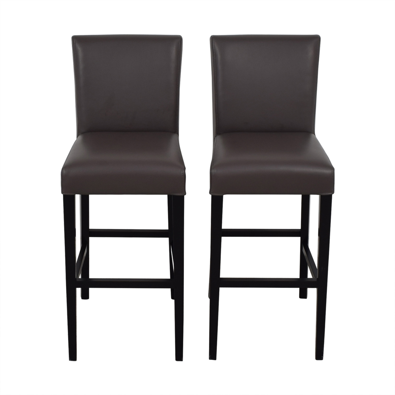 Crate & Barrel Crate & Barrel Lowe Smoke Leather Bar Stools used