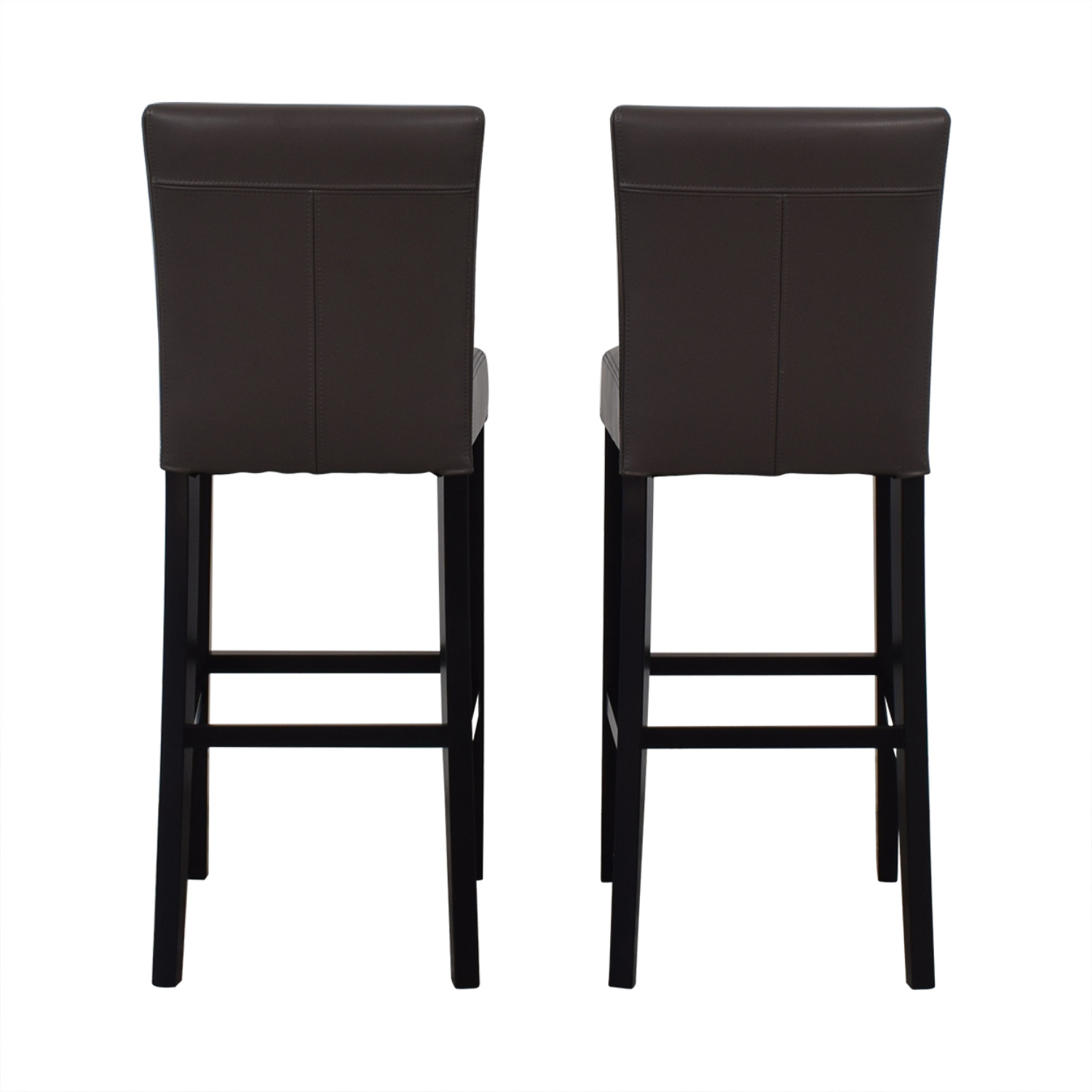 shop Crate & Barrel Crate & Barrel Lowe Smoke Leather Bar Stools online