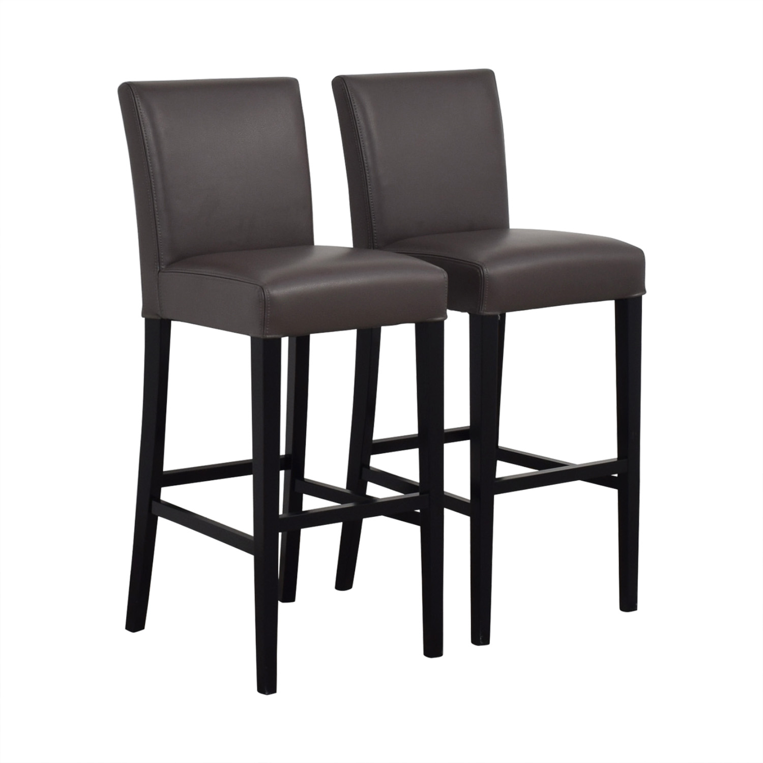 Crate & Barrel Crate & Barrel Lowe Smoke Leather Bar Stools price
