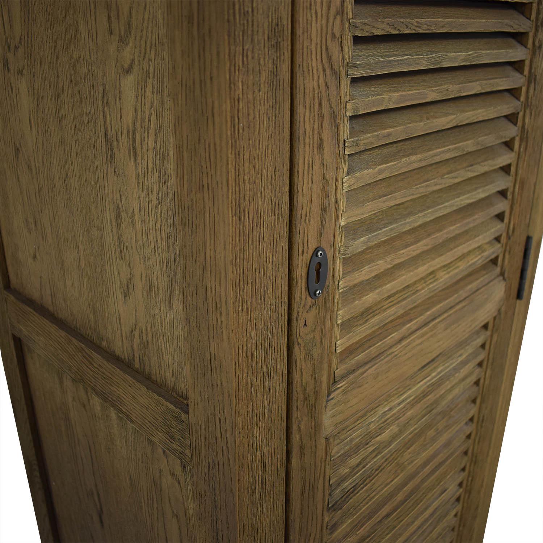 buy Restoration Hardware Tall Shutter Cabinet Restoration Hardware Cabinets & Sideboards