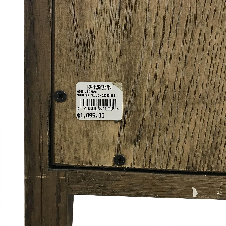 Restoration Hardware Tall Shutter Cabinet / Storage