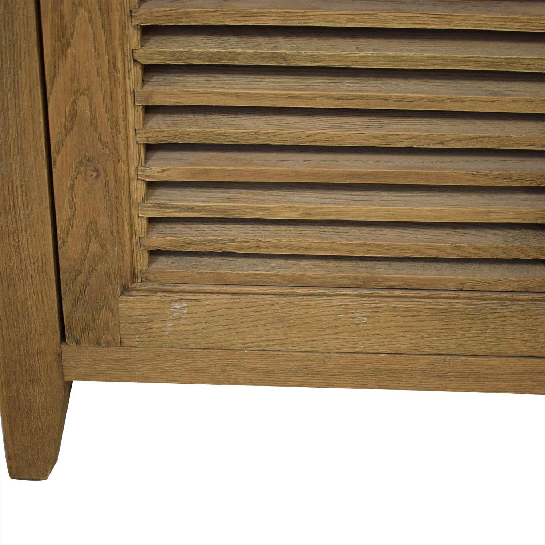 Restoration Hardware Tall Shutter Cabinet sale