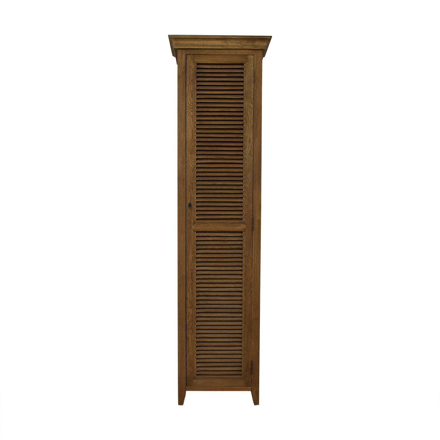 Restoration Hardware Tall Shutter Cabinet sale