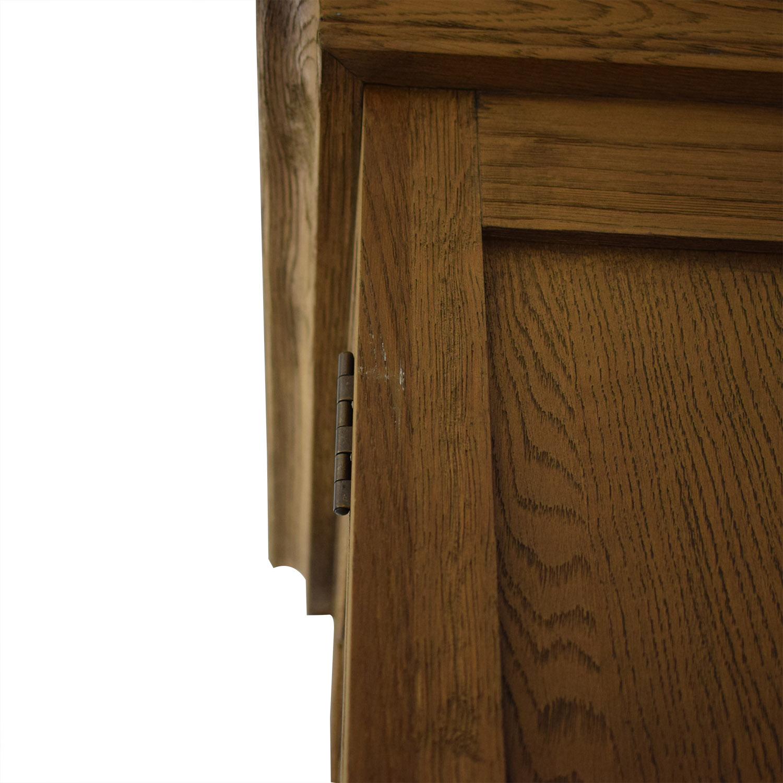 buy Restoration Hardware Tall Shutter Cabinet Restoration Hardware