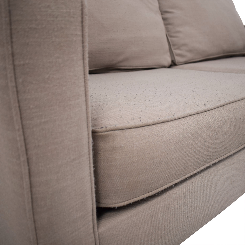 West Elm West Elm Henry Two Cushion Sofa tan