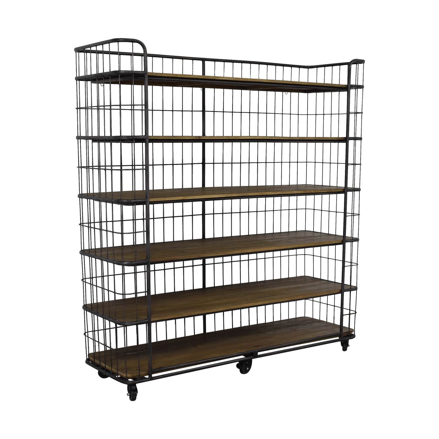 Restoration Hardware Restoration Hardware Circa 1900 Caged Baker's Rack Wide Single Shelving Bookcases & Shelving