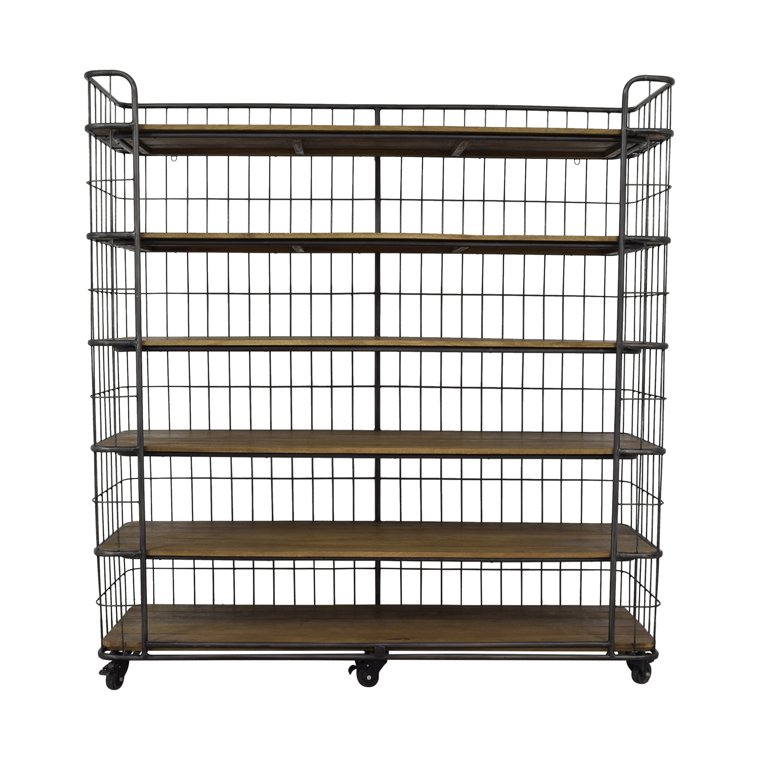 Restoration Hardware Restoration Hardware Circa 1900 Caged Baker's Rack Wide Single Shelving nj