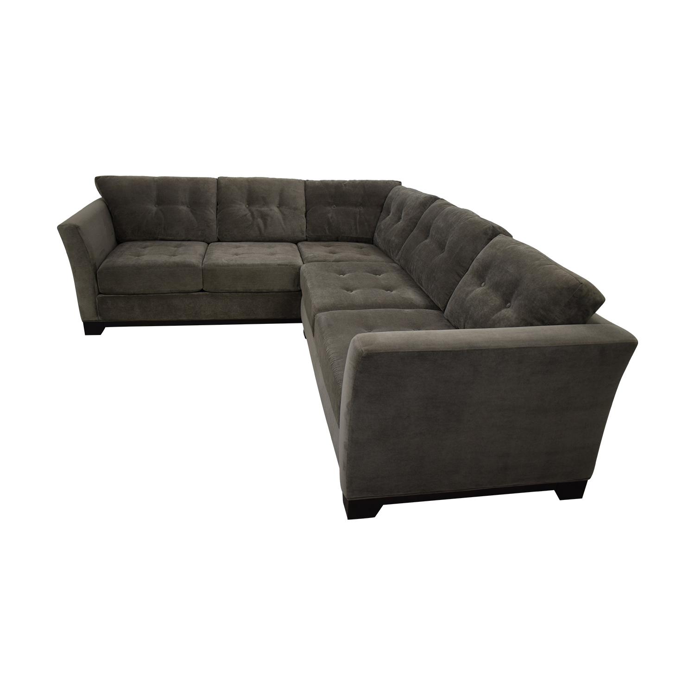 Jonathan Louis Jonathan Louis Sectional Sofa dark grey