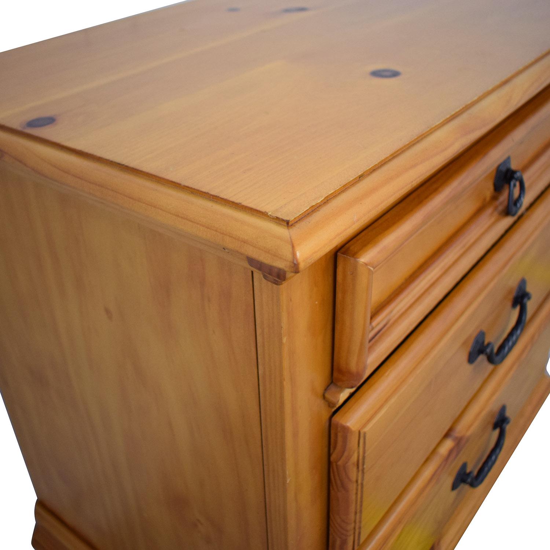 shop Wood Three Drawer Nightstand