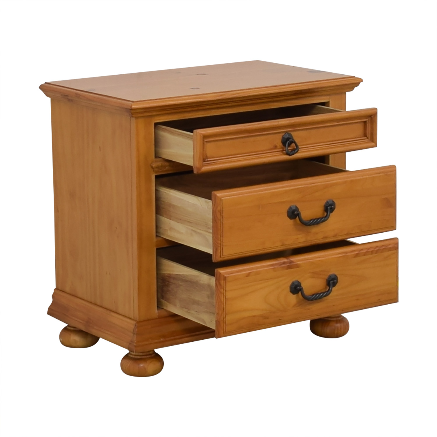 shop Wood Three Drawer Nightstand  End Tables