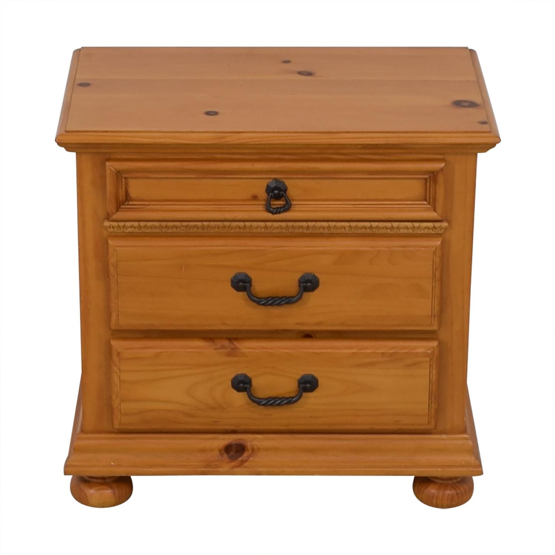 buy Wood Three Drawer Nightstand