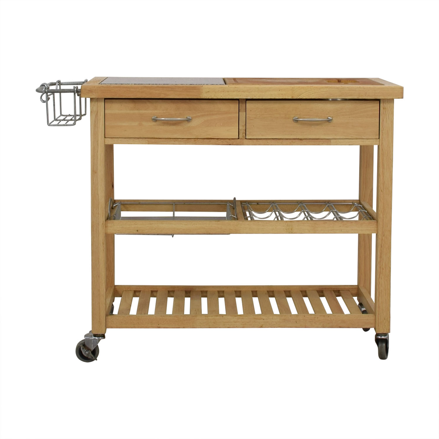 Pottery Barn Pottery Barn Rolling Utility Table