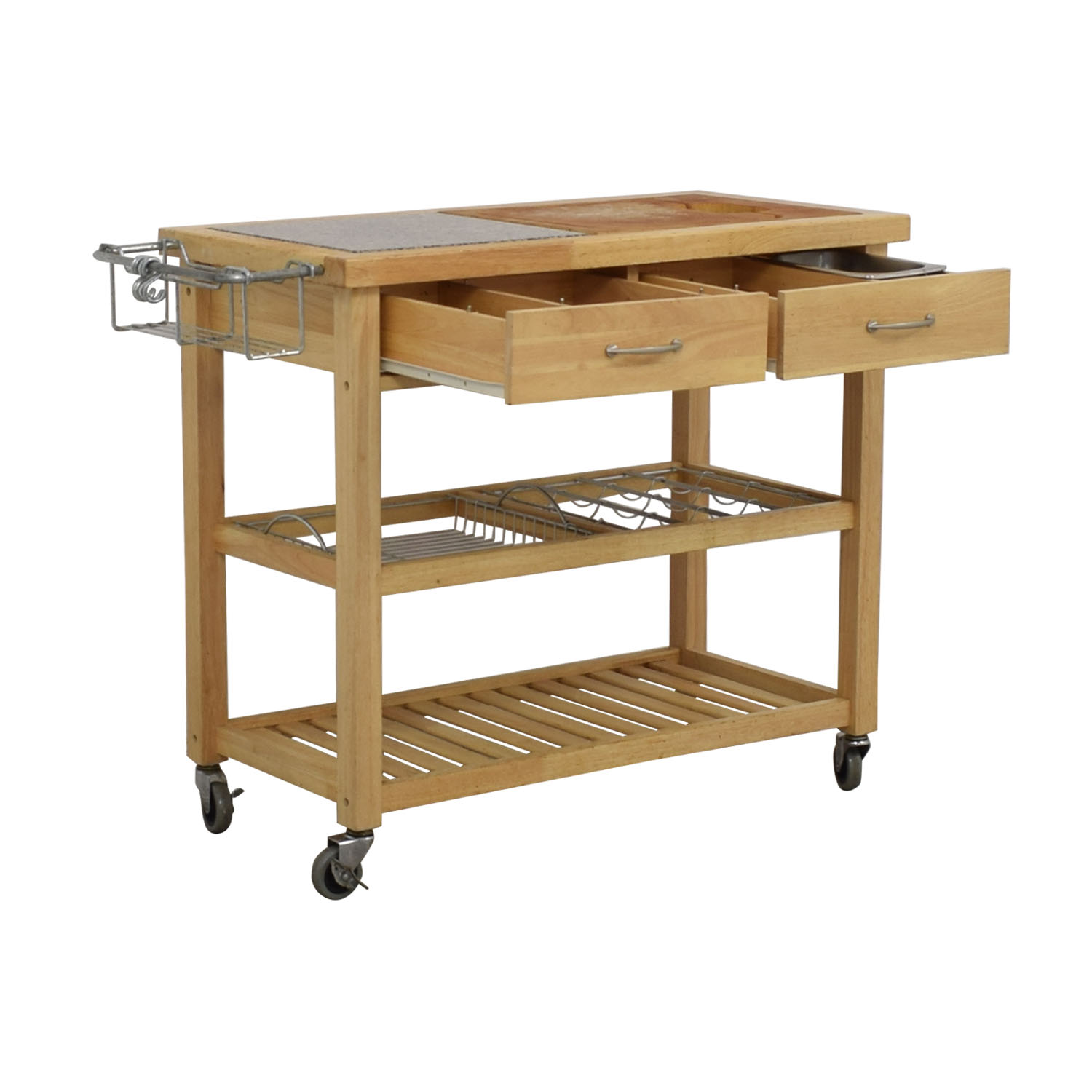 buy Pottery Barn Pottery Barn Rolling Utility Table online