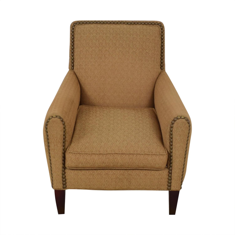 Lee Industries Lee Industries Nailhead Upholstered Armchair tan