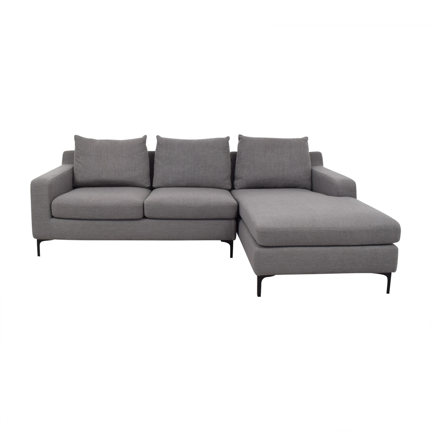 shop Sloan Sectional Sofa Left Chaise Interior Define Sectionals
