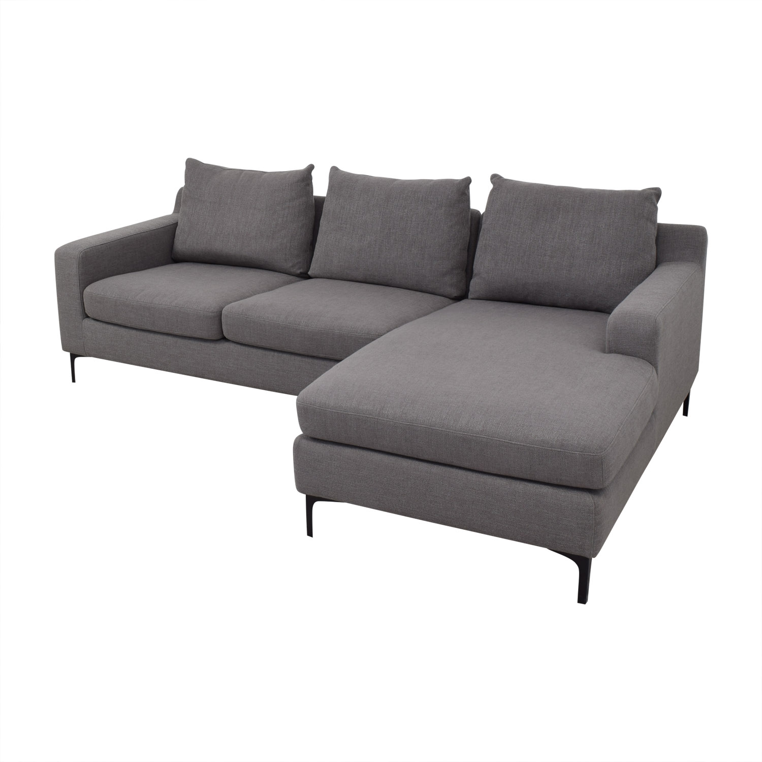 Interior Define Sloan Sectional Sofa Left Chaise Sofas