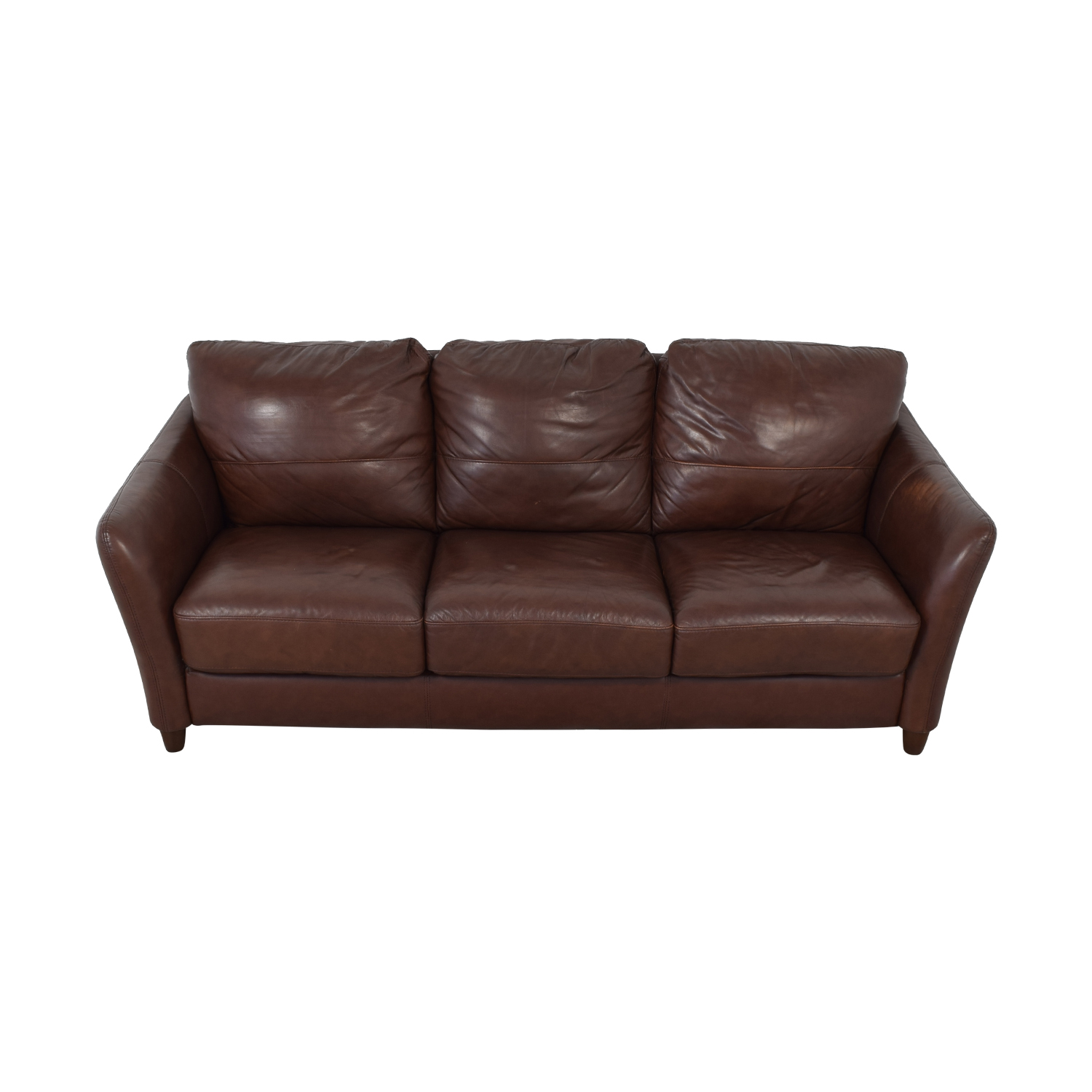 shop Raymour & Flanigan Leather Sofa Raymour & Flanigan