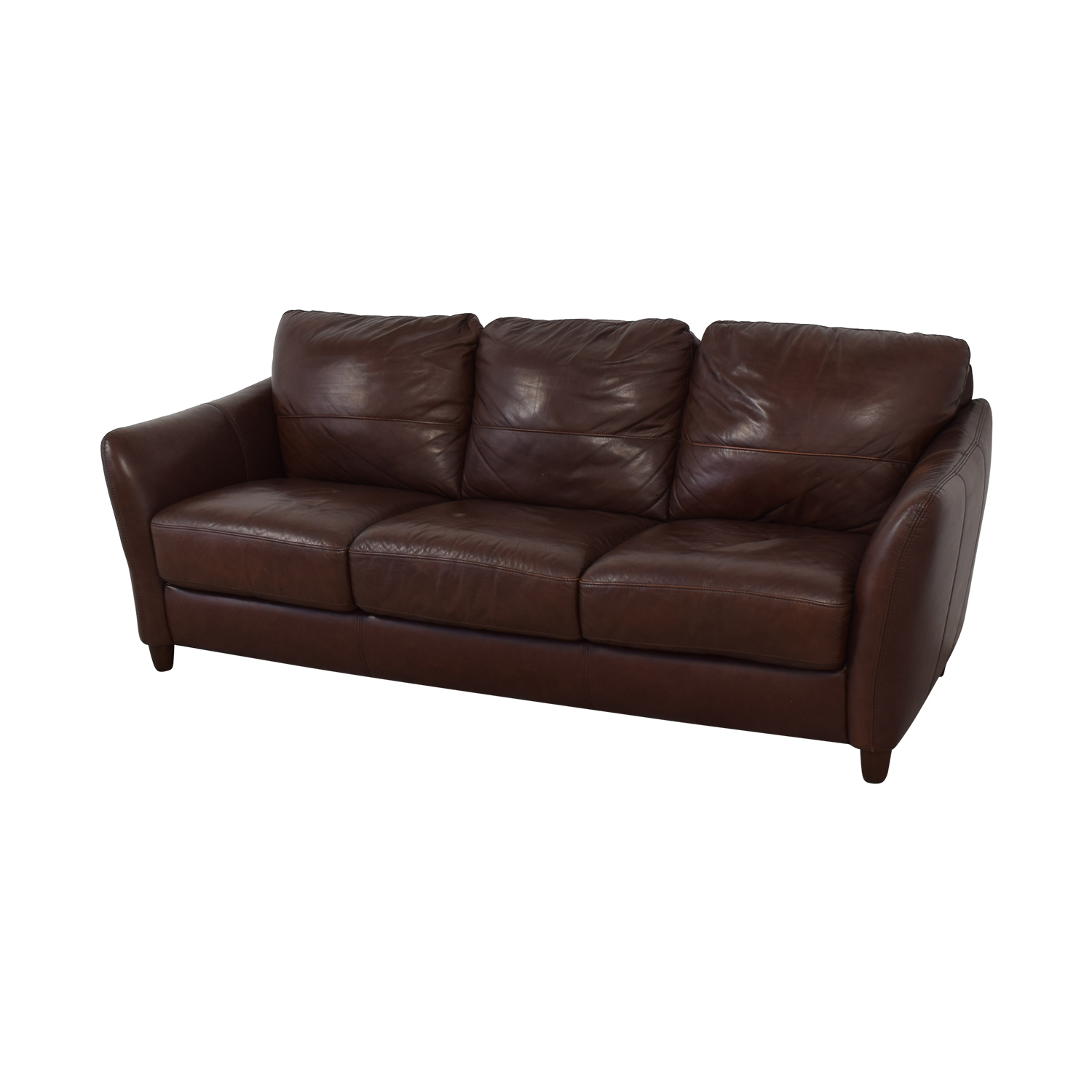 Raymour & Flanigan Leather Sofa / Classic Sofas