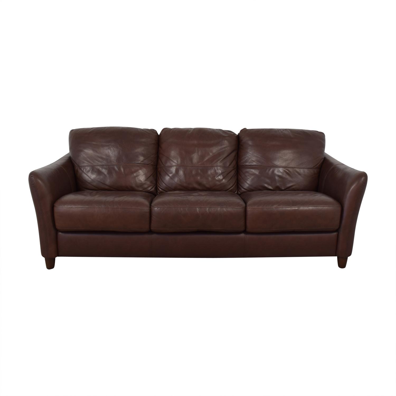 shop Raymour & Flanigan Leather Sofa Raymour & Flanigan