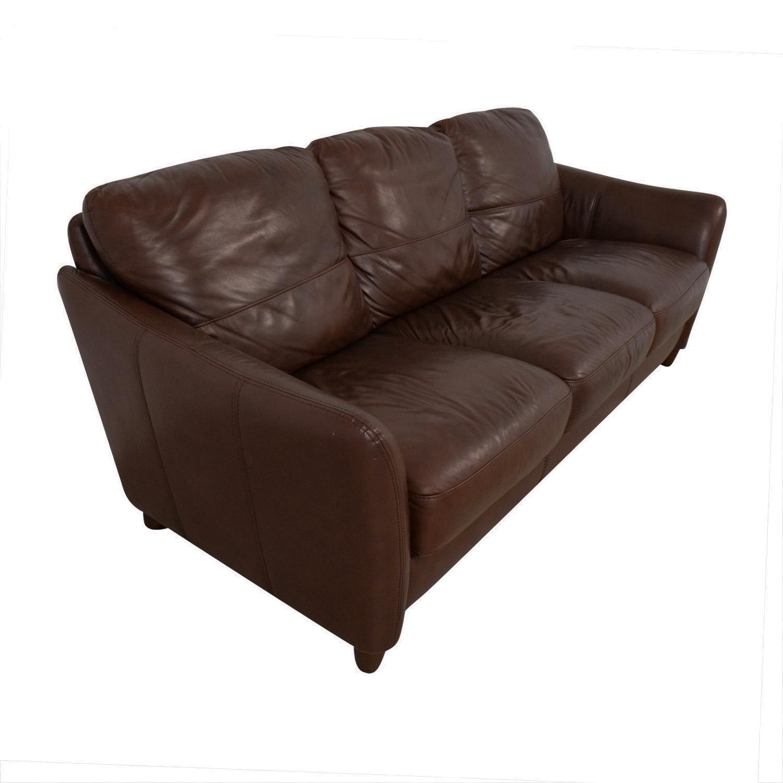 Raymour & Flanigan Raymour & Flanigan Leather Sofa coupon