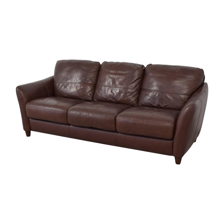 shop Raymour & Flanigan Raymour & Flanigan Leather Sofa online