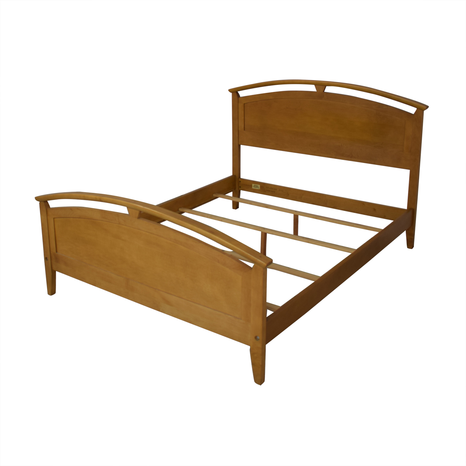 Ethan Allen Ethan Allen Elements Queen Arched Panel Wood Bed used
