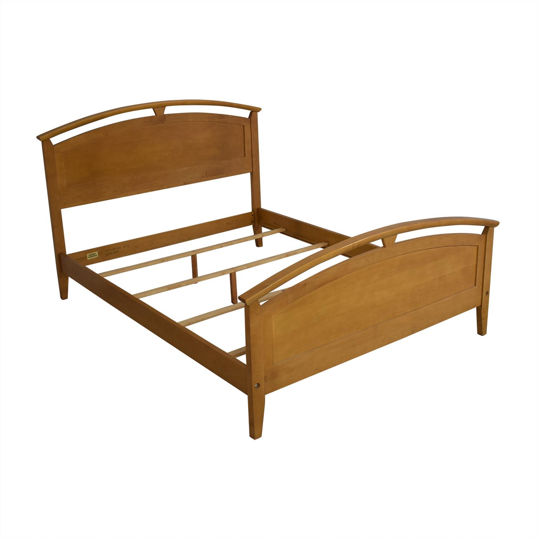 Ethan Allen Ethan Allen Elements Queen Arched Panel Wood Bed discount