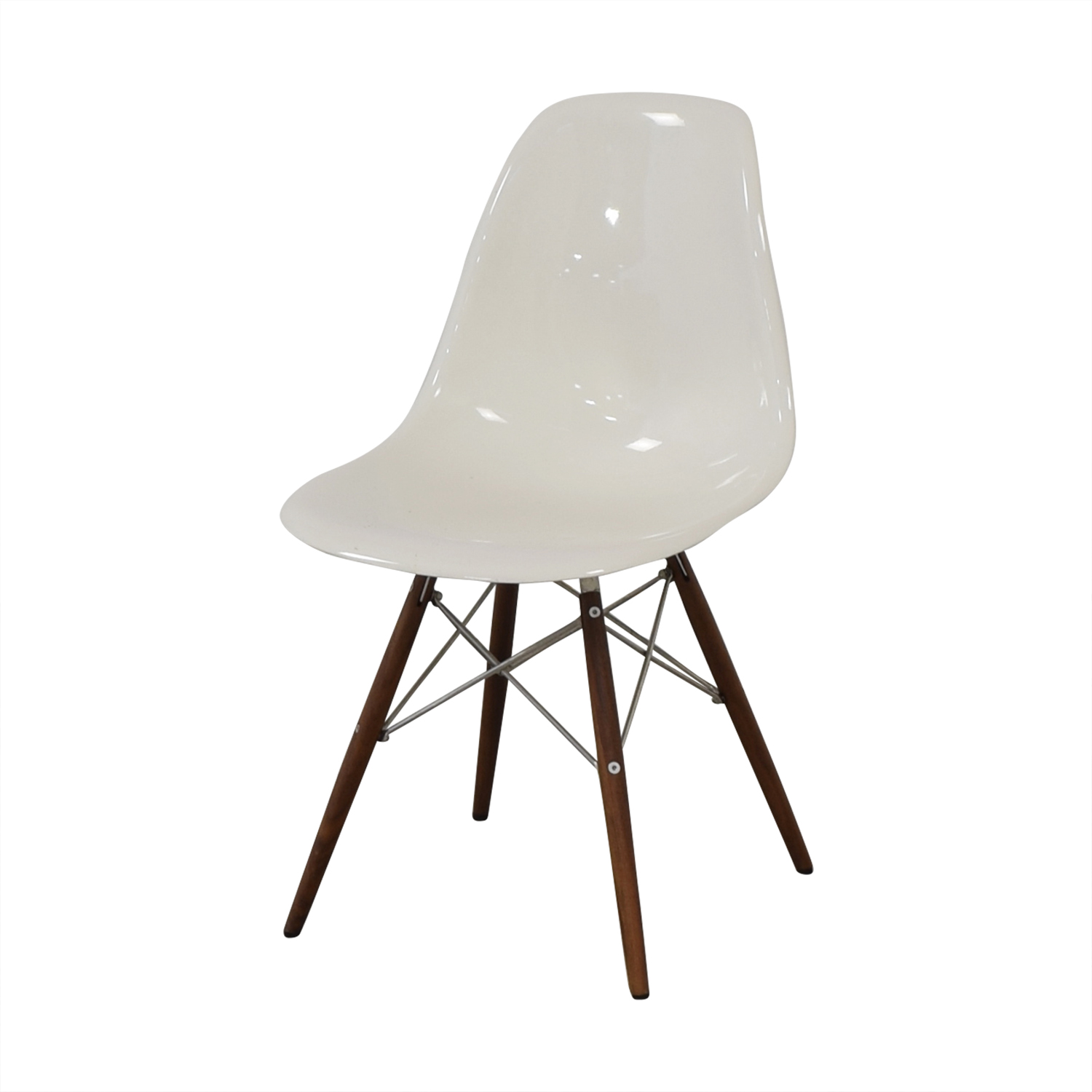 shop Herman Miller Eames Plastic Molded Chair White Herman Miller Dining Chairs