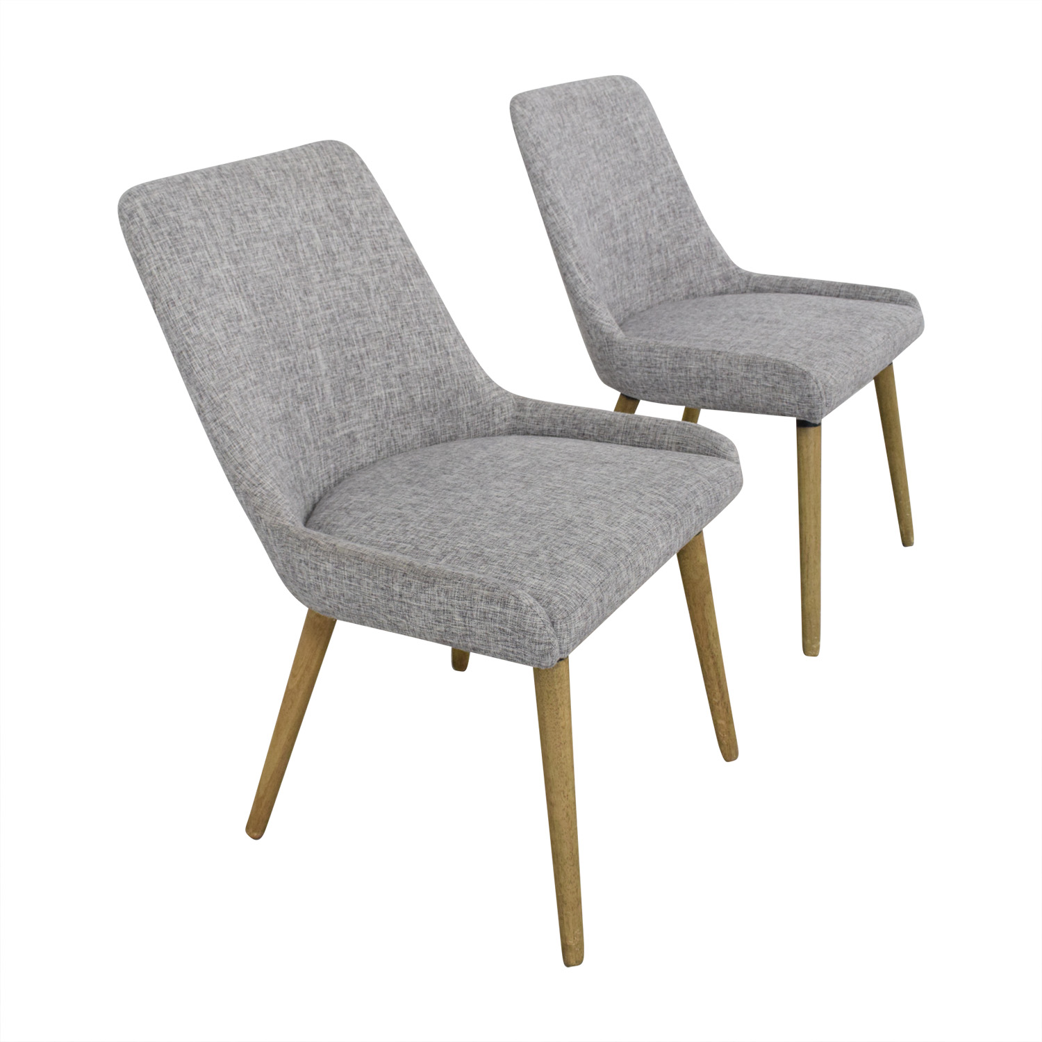 West Elm West Elm Mid Century Upholstered Dining Chairs discount
