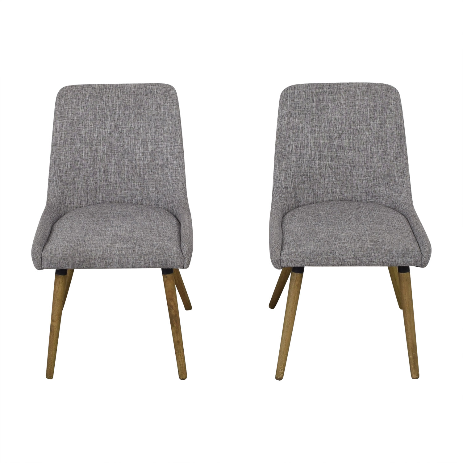 West Elm Mid Century Upholstered Dining Chairs sale