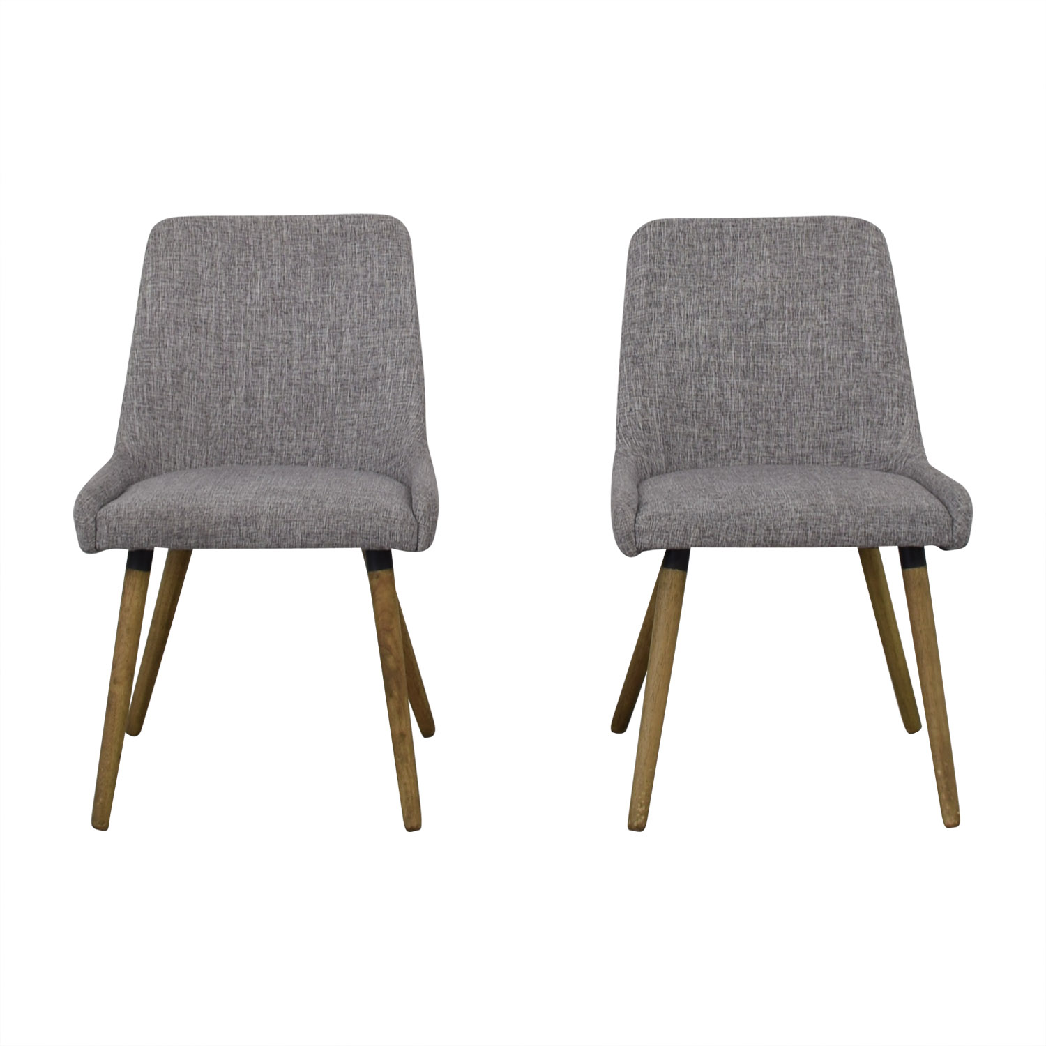 West Elm Mid Century Upholstered Dining Chairs / Dining Chairs