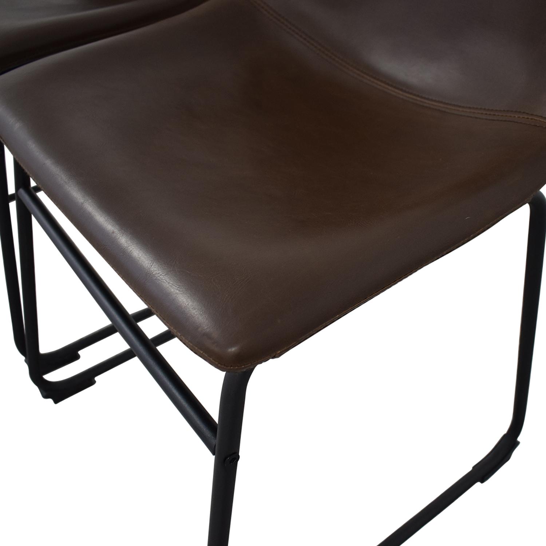 shop Walker Edison Walker Edison Industrial Faux Leather Dining Chairs online