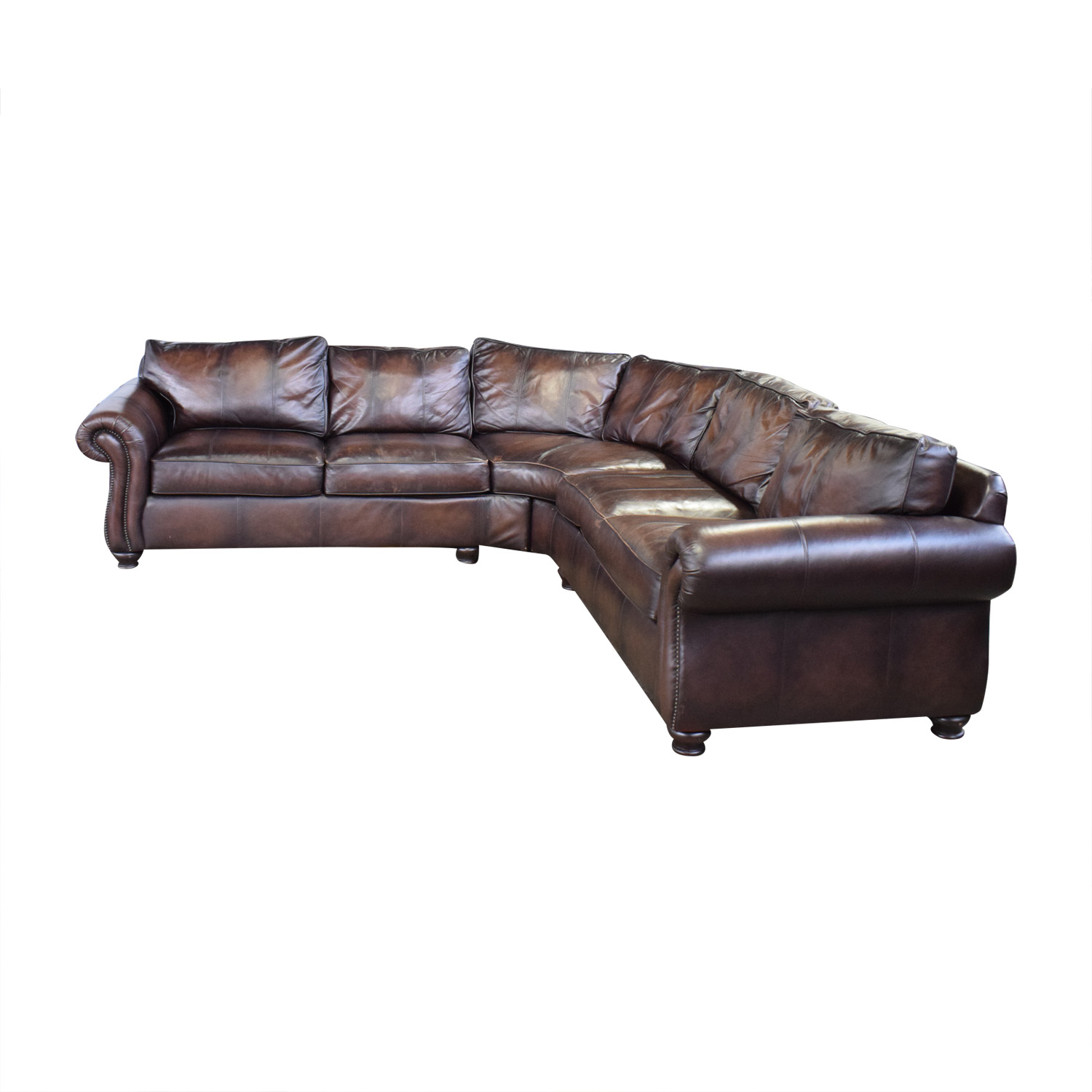Marvelous 72 Off Bernhardt Bernhardt Brown Leather Sectional Sofas Interior Design Ideas Tzicisoteloinfo