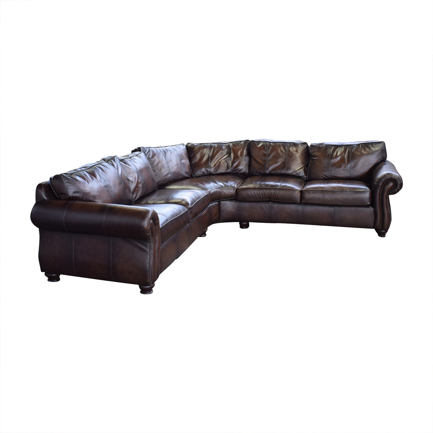 Bernhardt Bernhardt Brown Leather Sectional on sale