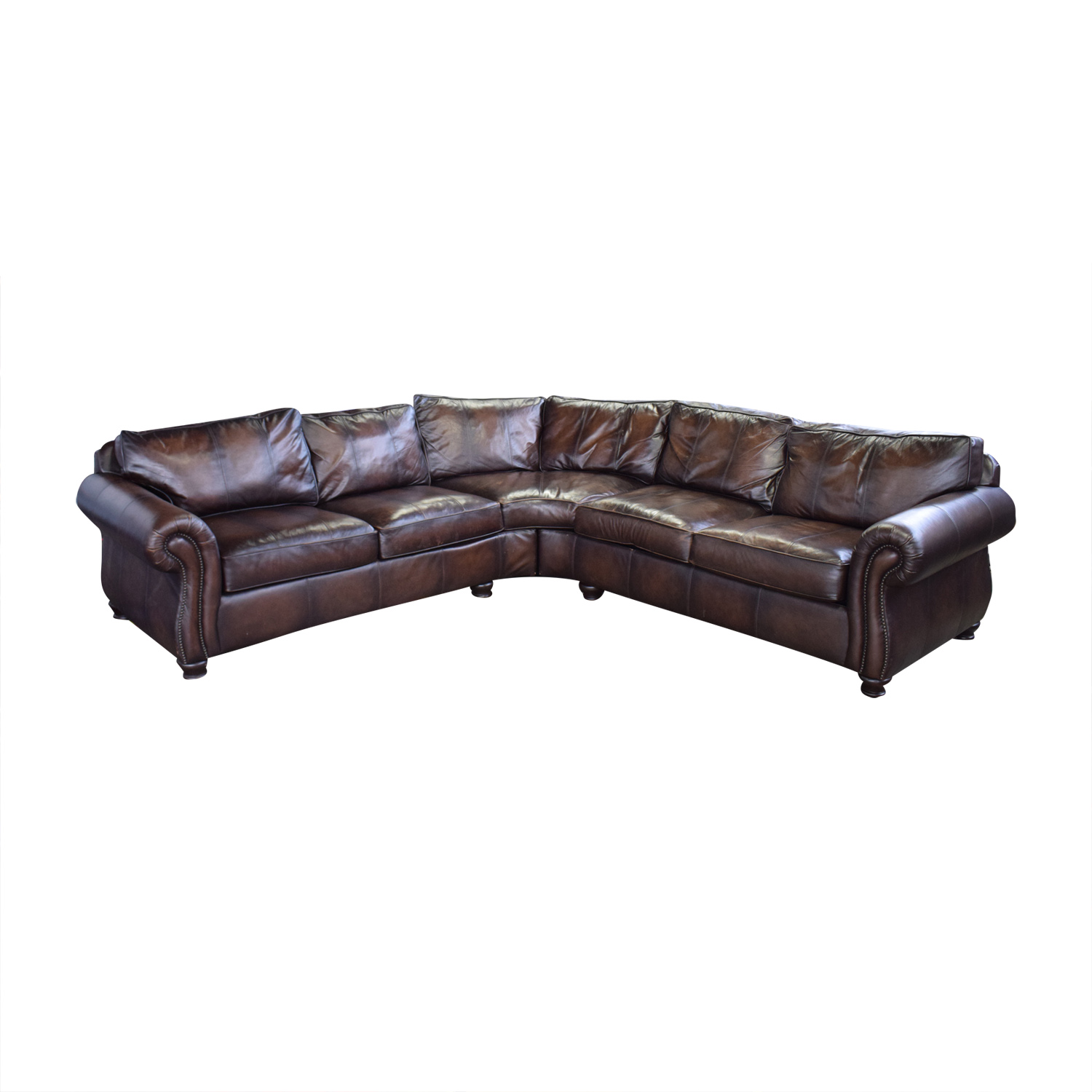 Bernhardt Bernhardt Brown Leather Sectional used