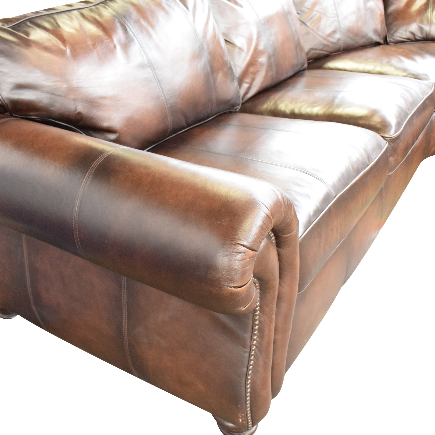 Bernhardt Bernhardt Brown Leather Sectional for sale