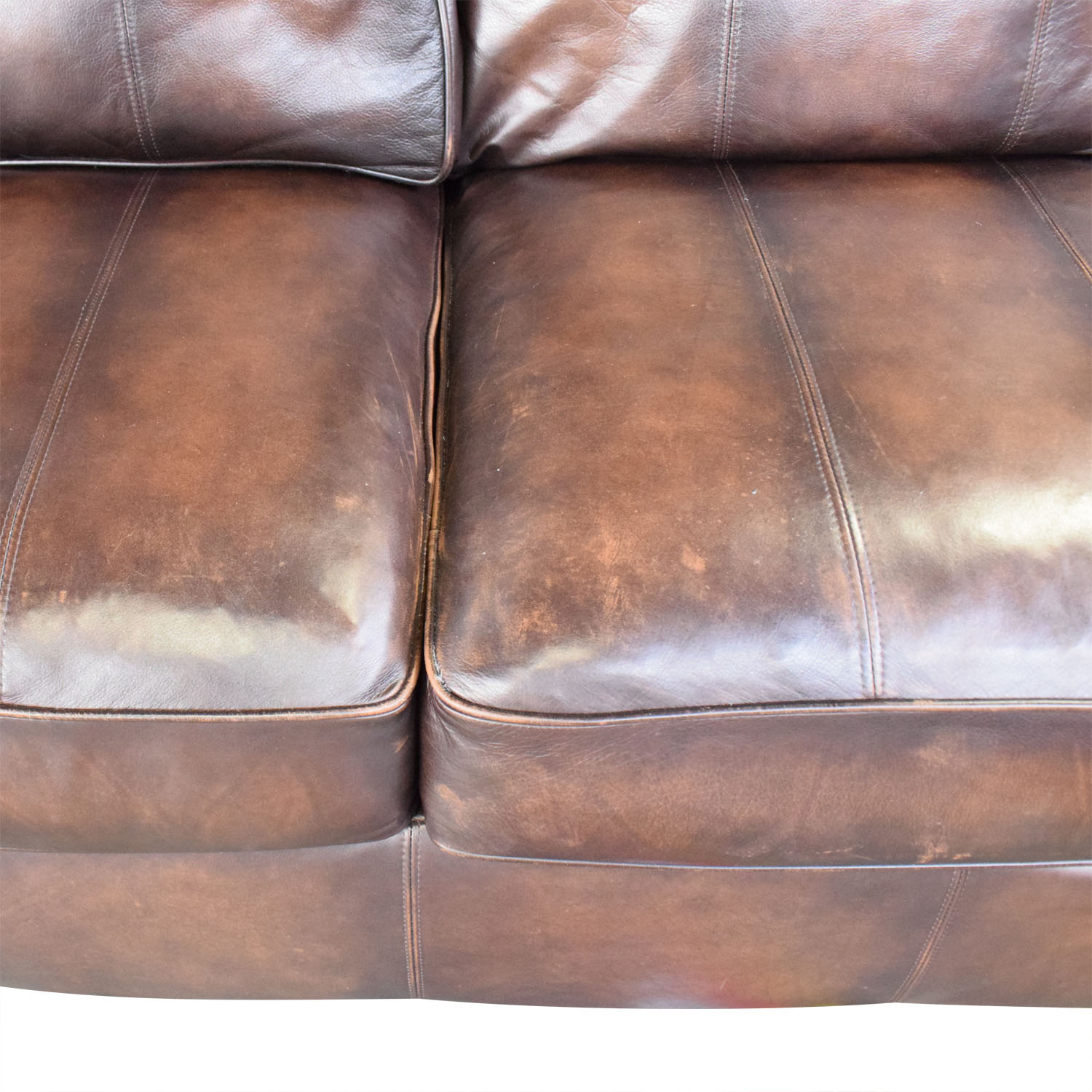 shop Bernhardt Brown Leather Sectional Bernhardt Sectionals