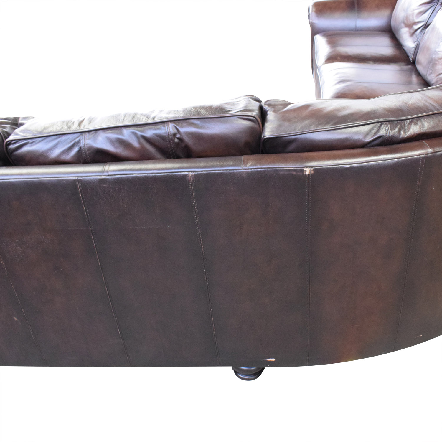 Superb 73 Off Bernhardt Bernhardt Brown Leather Sectional Sofas Gmtry Best Dining Table And Chair Ideas Images Gmtryco