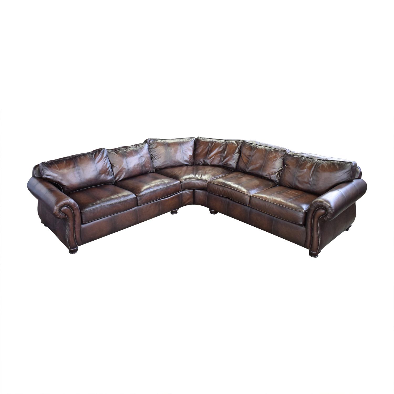 buy Bernhardt Bernhardt Brown Leather Sectional online