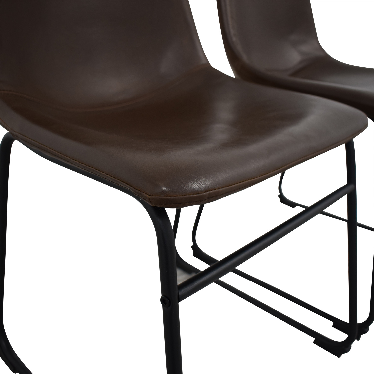 Walker Edison Walker Edison Industrial Faux Leather Dining Chairs Dining Chairs