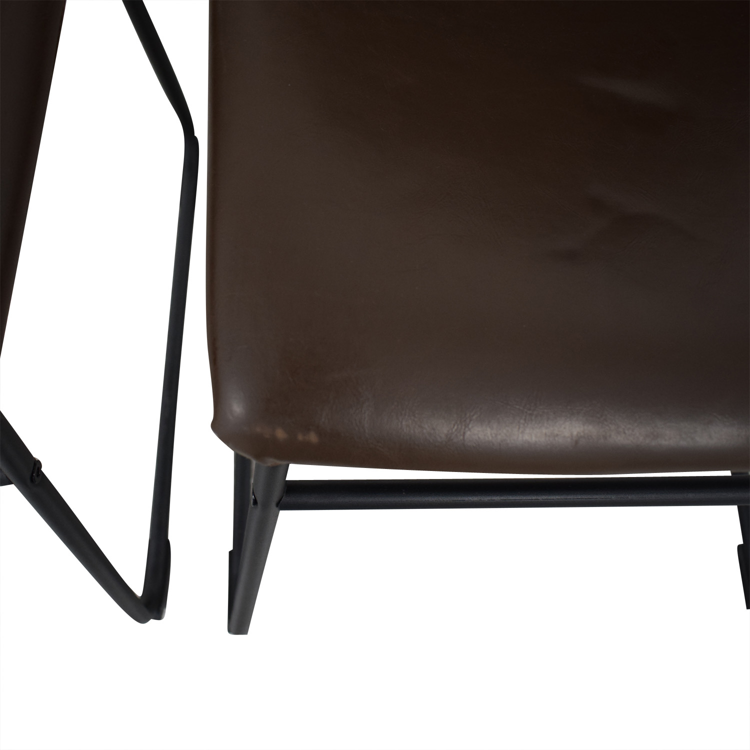 Walker Edison Walker Edison Industrial Faux Leather Dining Chairs Chairs