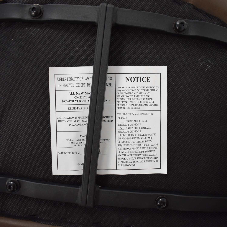 shop Walker Edison Industrial Faux Leather Dining Chairs Walker Edison