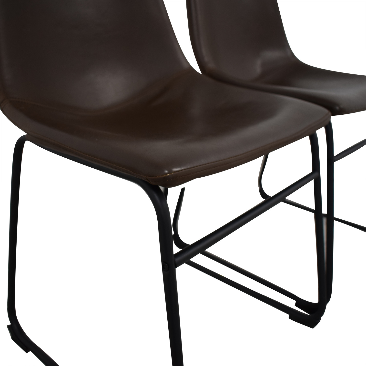 buy Walker Edison Industrial Faux Leather Dining Chairs Walker Edison Chairs