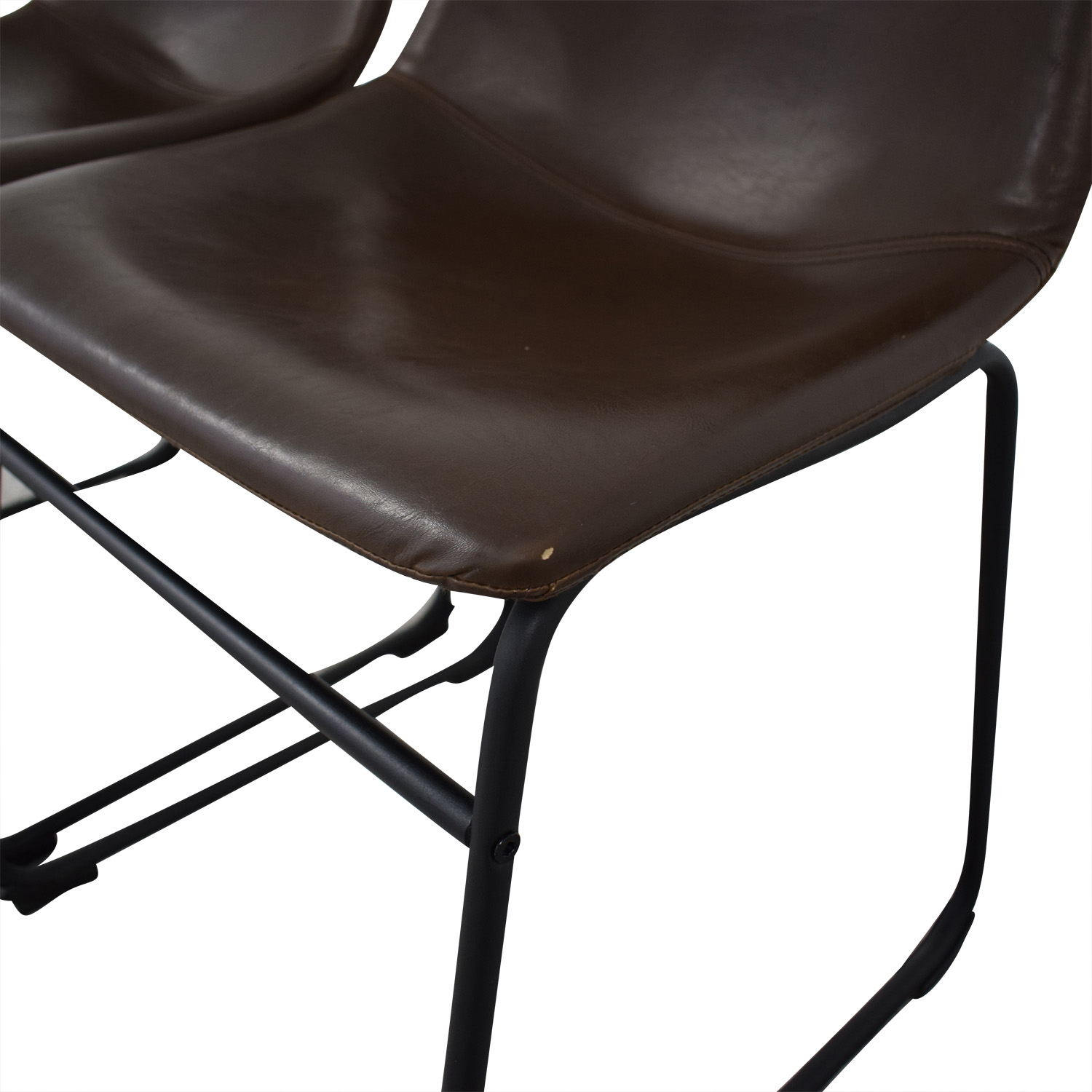 Walker Edison Walker Edison Industrial Faux Leather Dining Chairs coupon